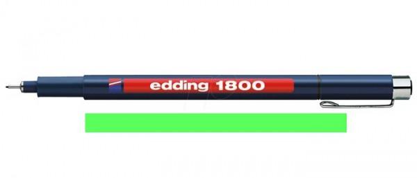 Edding 1800 Groen 01 (0,25 mm) Profipen Fineliner