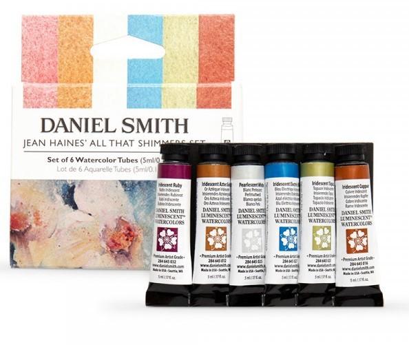 Jean Haines Shimmers Watercolor Set Daniel Smith set 6 tubes 5ml Aquarelverf