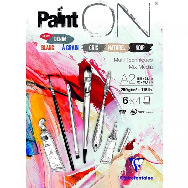 Paint-On A2 4x6 vel mix papier 250gr Clairefontaine