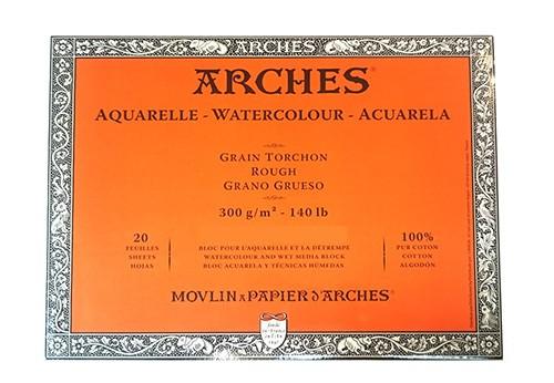 Aquarelpapier Grain Torchon 300 gr 20x26 Arches Blok