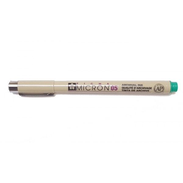 Pigma Micron 05 (0.45mm) GREEN #29 Sakura Fineliner