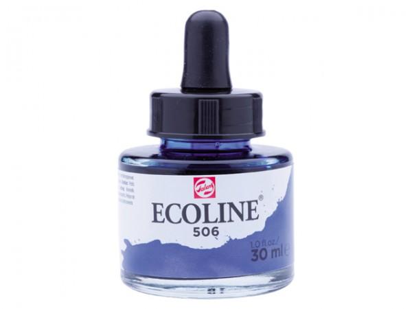 Talens ecoline inkt 30ml - 506 Ultramarijn Donker Inkt Kroontjespen