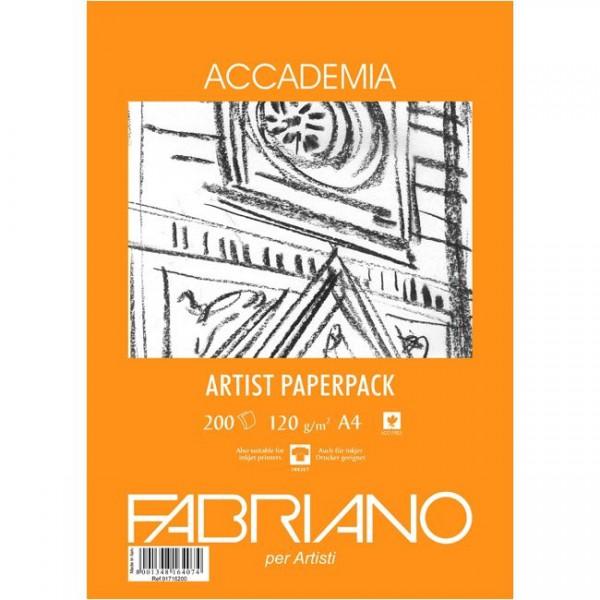 Accademia Tekenpapier Pak A4 120GR.200 Vel gele verpakking Fabriano