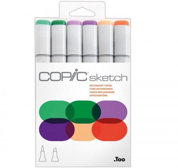 Copic Sketch 6 set - Secondary Tones Alcohol Marker