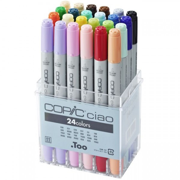 Copic Ciao set, 24 kleuren Alcohol Marker