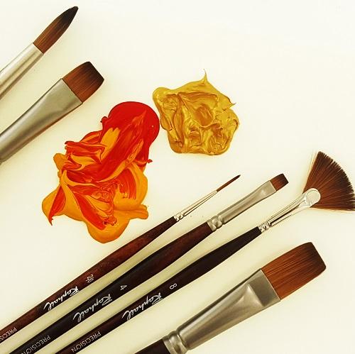 Acryl en Olieverf penselen