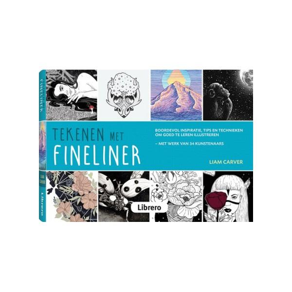 Tekenen met fineliner - boek