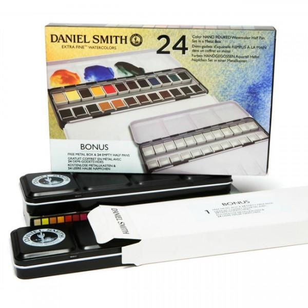 Luxe blik Watercolor Set Daniel Smith set 24 napjes Aquarelverf