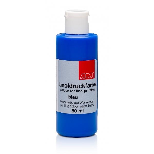 Ami Linodruk inkt Blauw 80ml op waterbasis