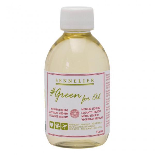 Medium Green for Oil 250ml Sennelier