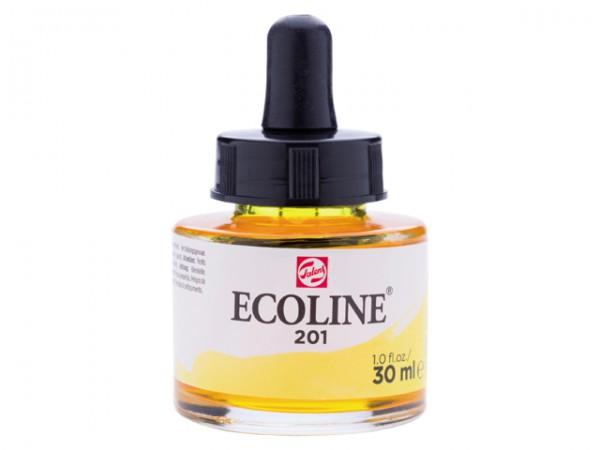 Talens ecoline inkt 30ml - 201 Lichtgeel Inkt Kroontjespen