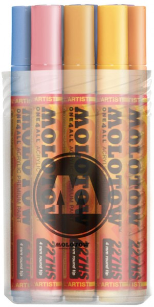 227HS Pastel Set - 4mm (x12) Molotow One4All Acryl Marker