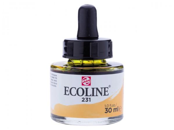 Talens ecoline inkt 30ml - 231 Goudoker Inkt Kroontjespen