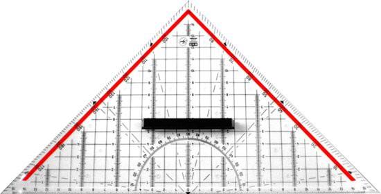 Geodriehoek plexiglas met greep 32cm (groot model) - Möbius & Ruppert