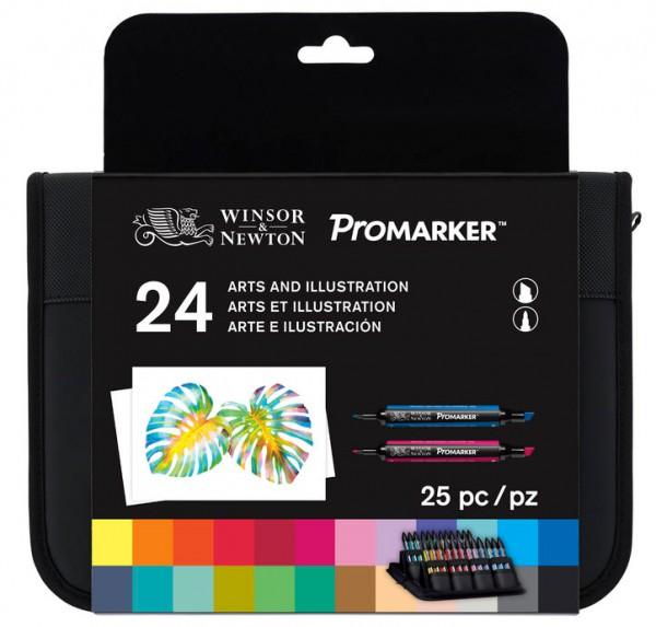 Promarker Set 24 - Arts and Illustration Winsor & Newton