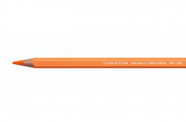 FLUO Oranje 491.030 Maxi Kleurpotlood Caran d'ache