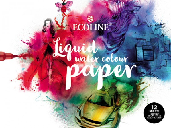 Ecoline Liquid Water Colour 24x32 Papier blok 12 vel