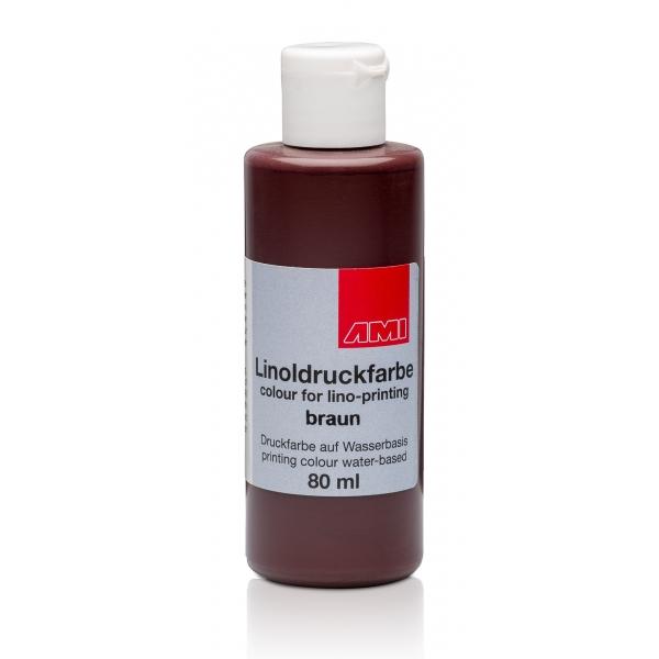 Ami Linodruk inkt Bruin 80ml op waterbasis