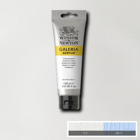 Galeria Acryl 120ml 644 S1 Titanium white