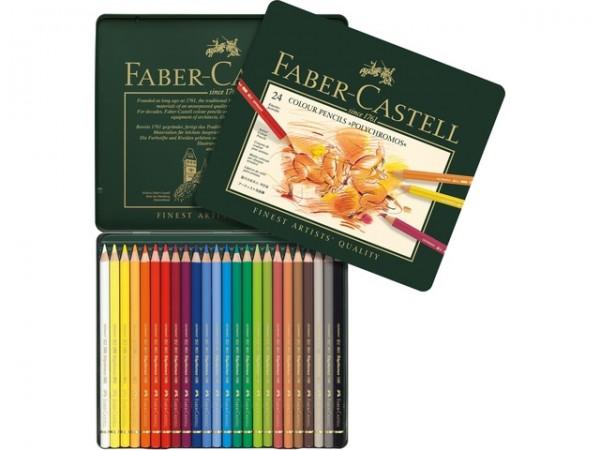 Faber Castell 24 Kleurpotloden Polychromos