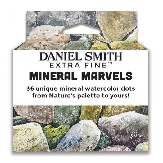 Mineral Marvels Watercolor 36 dots cards Daniel Smith Aquarelverf