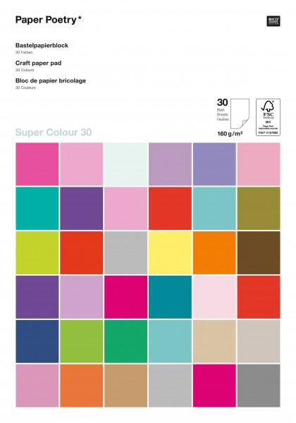 Rico Design knutselpapier Blok Super Colour 30 160 grams