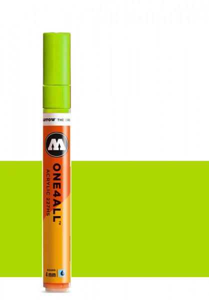 Molotow One4All Acryl Marker 227HS 4mm NEON GREEN FLUORESCENT Paint marker