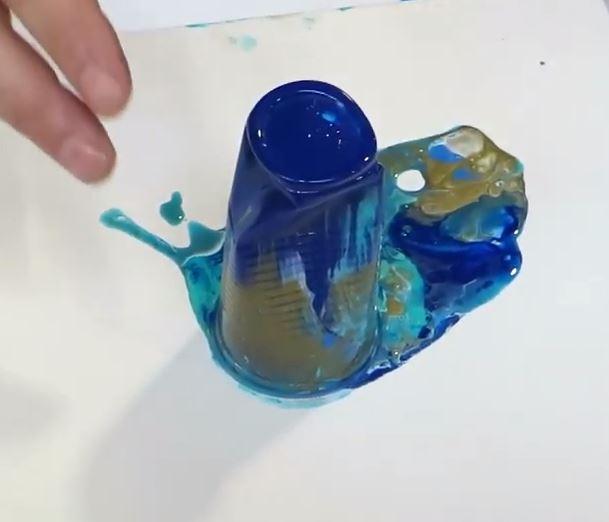 Acrylverf gieten Flip Cup bekertje