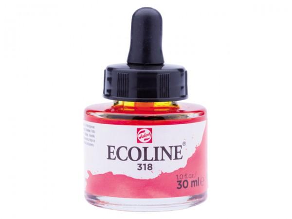Talens ecoline inkt 30ml - 318 Karmijn Inkt Kroontjespen