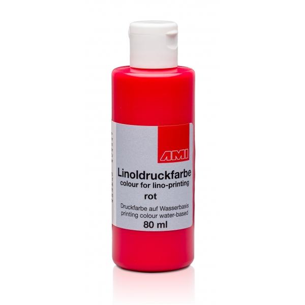 Ami Linodruk inkt Rood 80ml op waterbasi