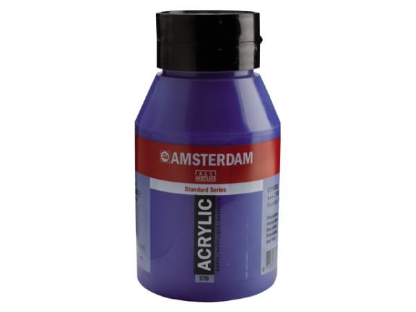 Amsterdam Acryl 1000ml 570 Phtaloblauw 1 liter pot