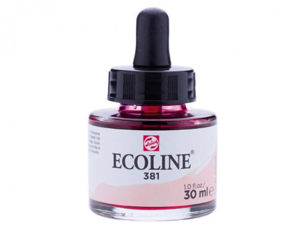 Talens ecoline inkt 30ml - 381 Pastelrood Inkt Kroontjespen